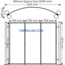 Centro stand Oval 4 Panel