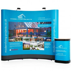 Pop Up Stand Oval 3x3 (3 Panel)