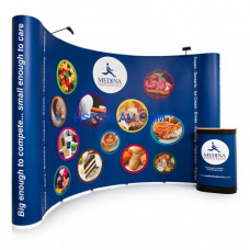 Pop Up Stand Oval 3x6 (6 Panel)