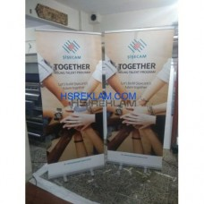 Roll Up Banner Tek Taraflı 85x200